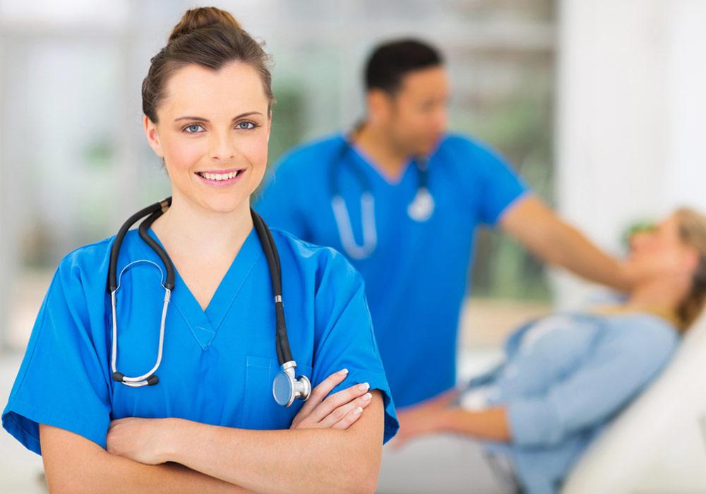 Céline, infirmière