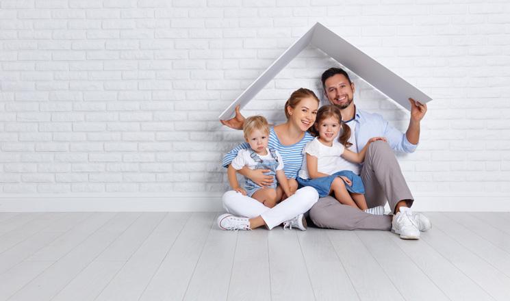 Famille protégée par sa mutuelle