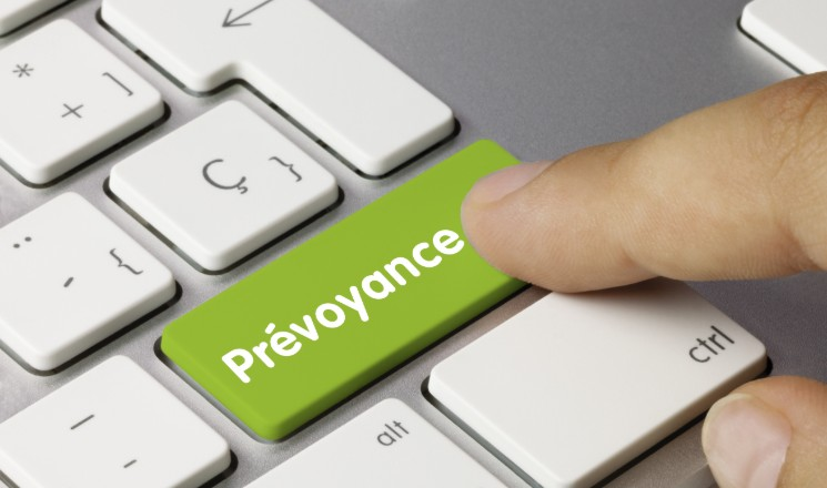 """Clavier d'ordinateur avec bouton """"Prévoyance"""""""