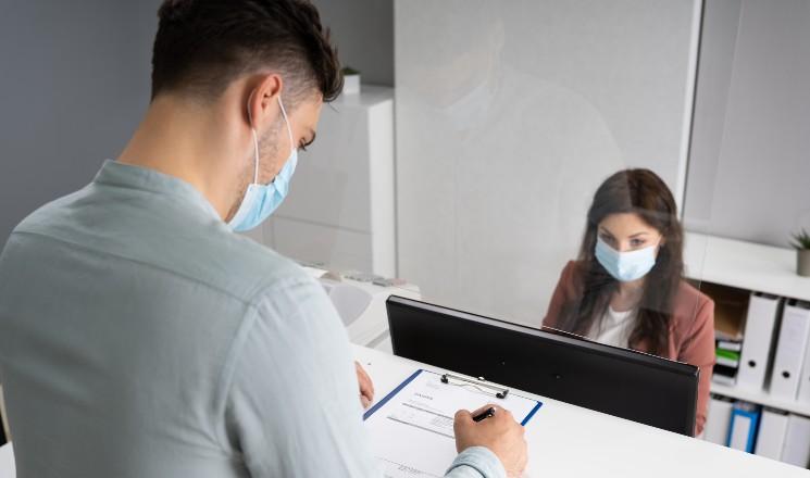 Accueil en agence avec protocole sanitaire Covid-19