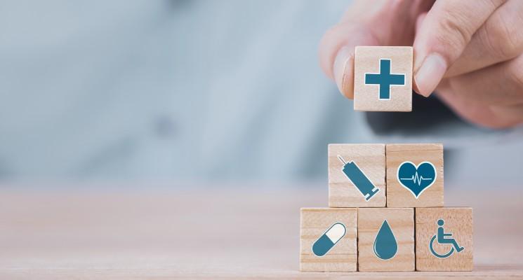 Cubes représentant les frais de santé