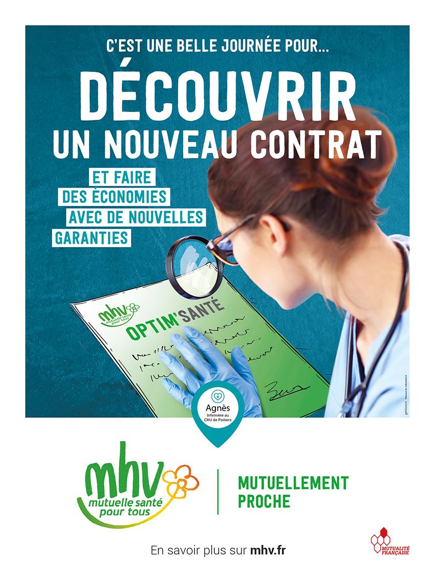 Affiche du nouveau contrat destiné au personnel hospitalier